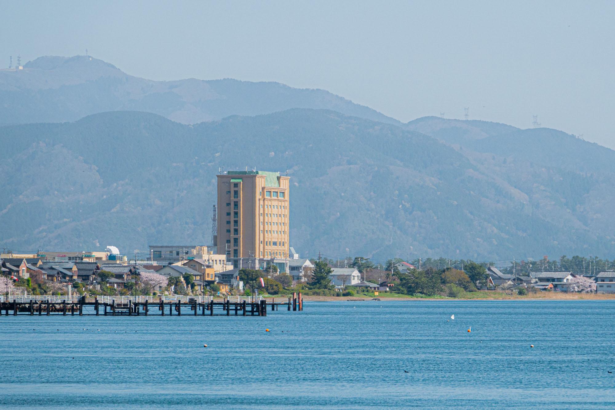 A hotel on the shores of Lake Biwa